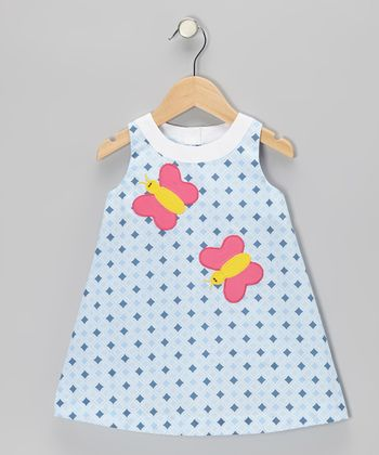 Blue Diamond Butterfly Swing Dress - Infant & Toddler