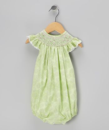 Kiwi Circle Smocked Bubble Bodysuit - Infant