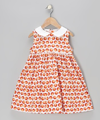 White Oranges Sundress - Toddler & Girls