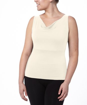 Hide & Sleek® Cowl Neck Cami Plus - Vanilla