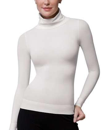 On Top & In Control Classic Turtleneck - White