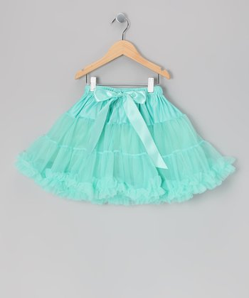 Aqua Mini Pettiskirt - Infant, Toddler & Girls