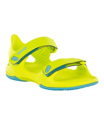 Neon Lemon Barracuda Sandal - Kids