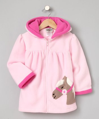Pink Fleece Pony Coat - Infant, Toddler & Girls