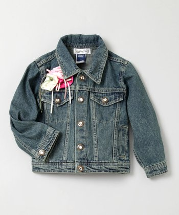 Rosette Denim Jacket - Toddler & Girls