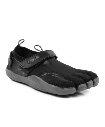 Black & Charcoal Skele-Toes EZ Slide Drainage Shoe - Men