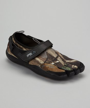 Black & Camo Skele-Toes EZ Shoe - Men