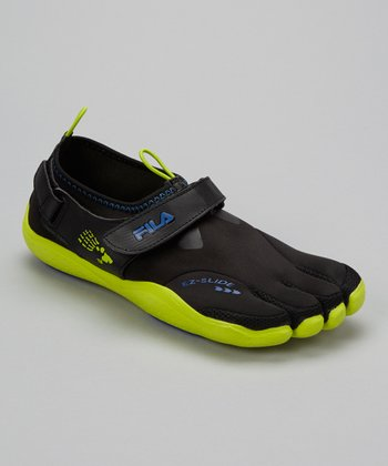 Black & Lime Skele-Toes EZ Shoe - Men