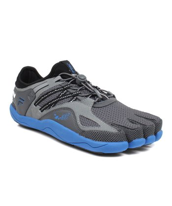 Gray & Blue Skele-Toes Bay Runner Shoe 3 - Men