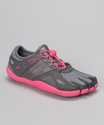 Monument & Hot Pink Skele-Toes Bay Runner Shoe - Kids