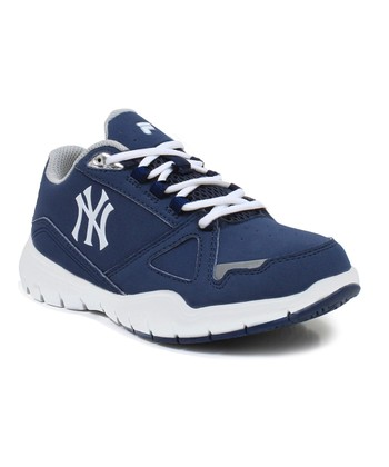 Navy New York Yankees High Rise Sneaker