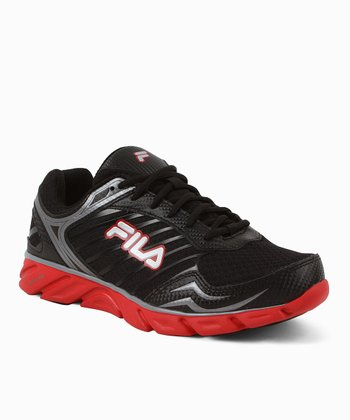 Black & Red Fresh Running Sneaker