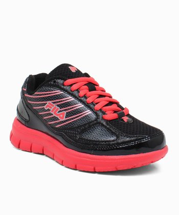 Black & Raspberry Rocket Fuel Running Sneaker
