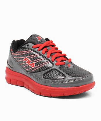 Gray & Red Rocket Fuel Running Sneaker