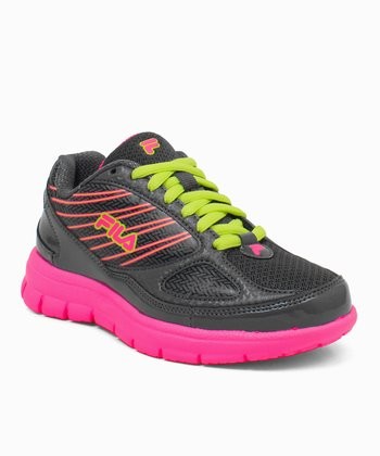Black & Neon Pink Rocket Fuel Running Sneaker