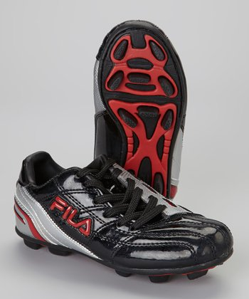 Black Calcio 11 Rubber Blade Soccer Cleat