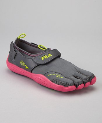 Gray & Pink Skele-Toes EZ Shoe - Women