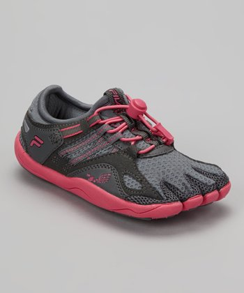 Monument & Hot Pink Skele-Toes Bay Runner Shoe - Women