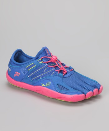 Dazzling Blue & Hot Pink Skele-Toes Bay Runner Shoe - Women