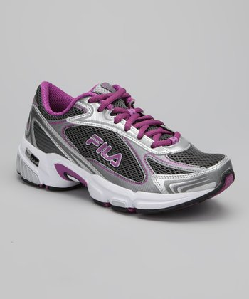 Silver & Purple DLS Tenacity Running Shoe