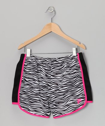 Rich Black Zebra Shorts