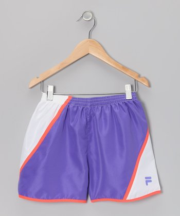 Simply Purple & Arctic White Shorts