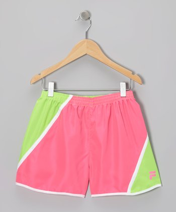 Knockout Pink & Green Gecko Primo Shorts