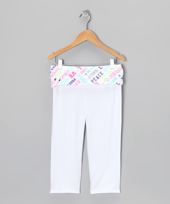 Arctic White Yoga Pants - Girls