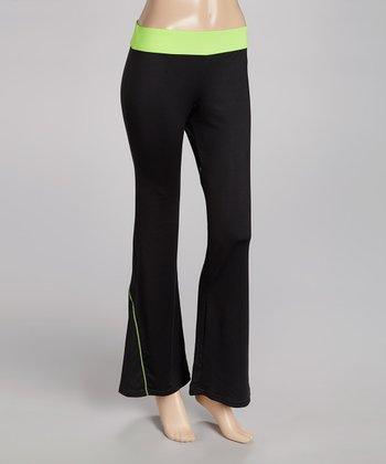 Lime Day Glo Yoga Pants