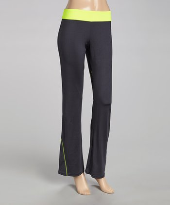 Lemon Day Glo Yoga Pants