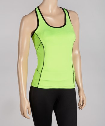 Lime Day Glo Racerback Tank -