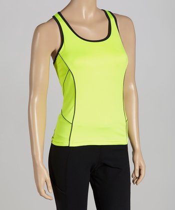 Lemon Day Glo Racerback Tank -