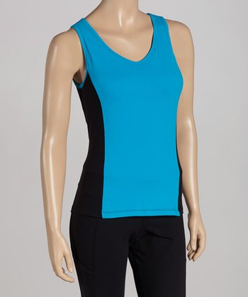 Black & Blue Lux Color Block Tank