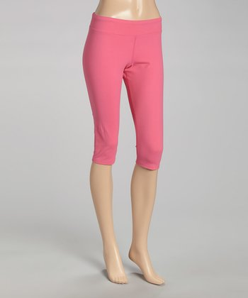 Pink Lux Tight Capri Pants