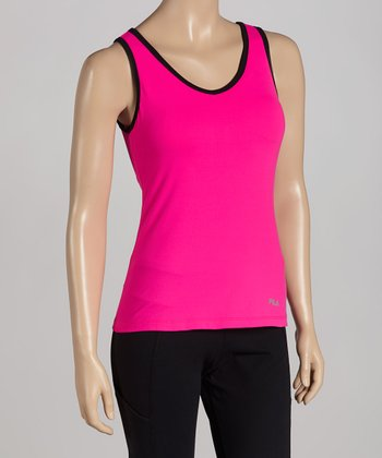 Hot Pink Lux Classic V-Neck Tank
