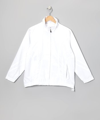 White Zip Jacket - Boys