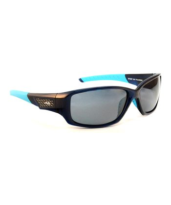 Blue & Smoke Polarized Sunglasses - Men