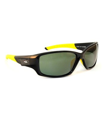 Black & Yellow Polarized Sunglasses - Men