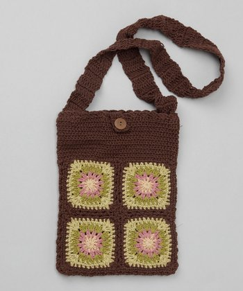 Cocoa Small Groovy Granny Square Purse