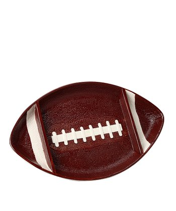Brown & White Touchdown Chip & Dip Platter