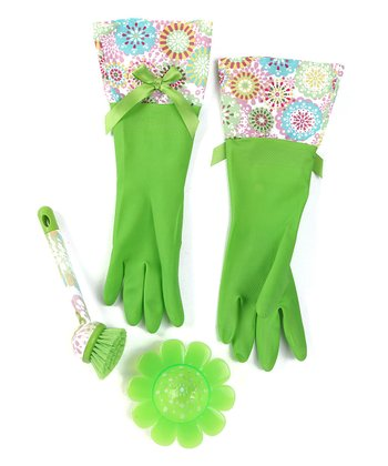 Lime Doilies Cleaning Set