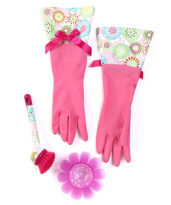 Pink Doilies Cleaning Set