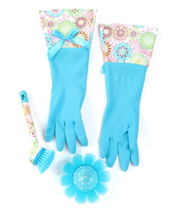 Sky Blue Doilies Cleaning Set