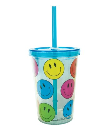 Happy Face 10-Oz. Insulated Lidded Tumbler