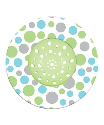 Green Cool Scatter Dots Sink Strainer
