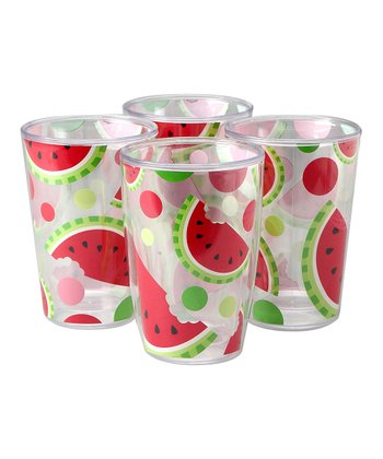 Watermelon 16-Oz. Insulated Tumbler - Set of Four