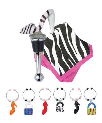 Fashionista Wine Stopper Set