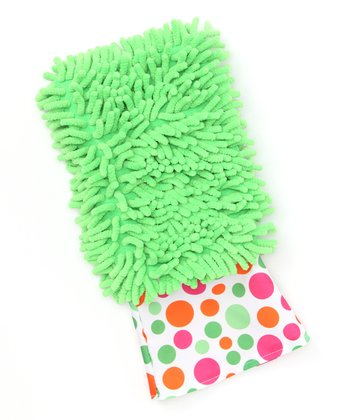 Green Dusting Diva Bright Dot Microfiber Mitt