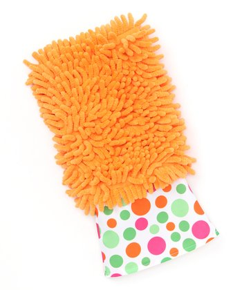 Orange Dusting Diva Bright Dot Microfiber Mitt