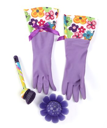 Purple Watercolor Cleaning Set